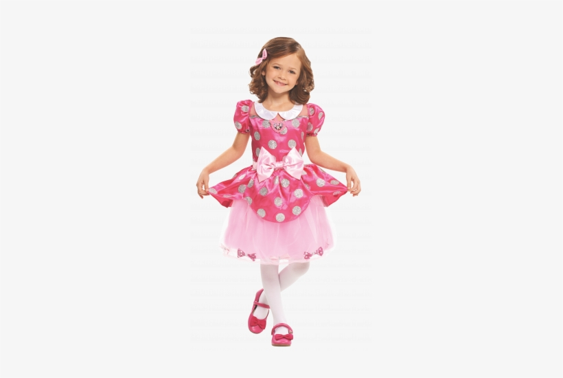 Minnie's Happy Helpers Bowdazzling Dress - Just Play Disney Junior Minnie Mouse Bow Costume Dress, transparent png #2543281