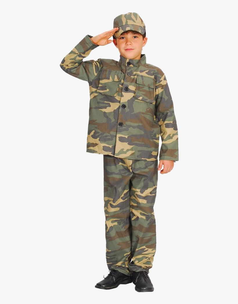 Sentinel Army Soldier Boys Fancy Dress Military Commando - Boy In Army Uniform, transparent png #2543306
