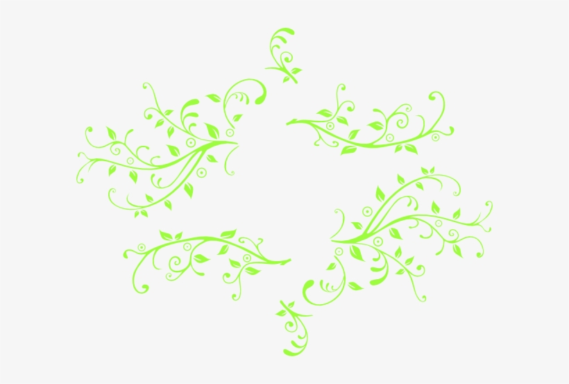 Leaf Swirl Vector Free Vector Download For - Green Swirl Vector Png
