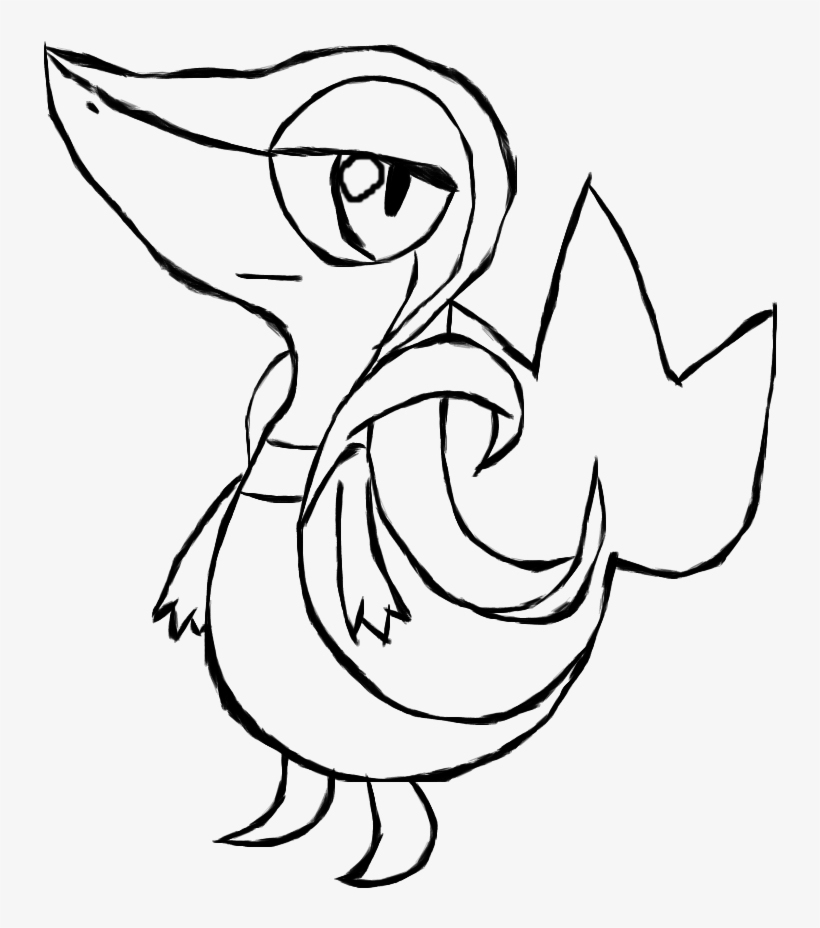 Pokemon Coloring Pages Printable Good Printable Coloring - Pokemon Snivy Coloring Pages, transparent png #2546101