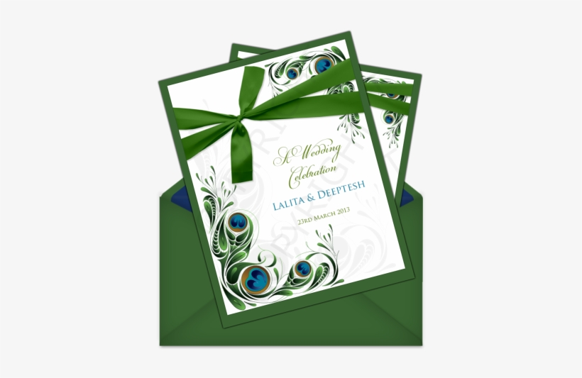 Letter Style Email Wedding Card Templates - Sample Wedding Invitation Green, transparent png #2547292