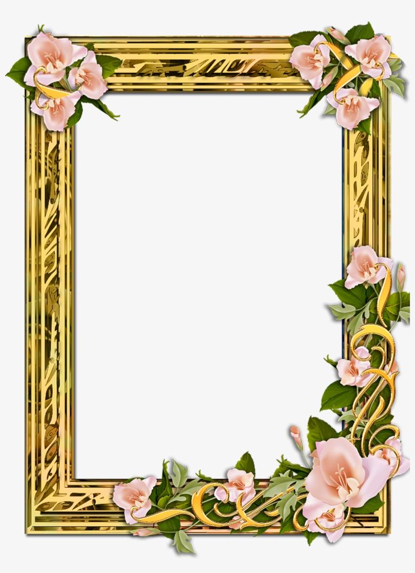 Flower Frame Png, Gold Frames, Backgrounds Free, Png - Frames With Transparent Backgrounds, transparent png #2548074