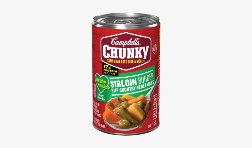 Healthy Request® Sirloin Burger With Country Vegetables - Campbell's Chunky Sirloin Burger Soup, transparent png #2550524