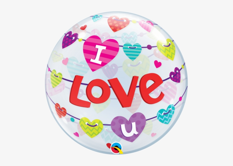 I Love You Banners Bubble Balloon 1pc - Qualatex Bubble I Love You, transparent png #2551399