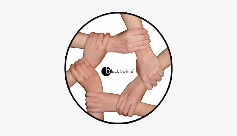 Welcome To Black And White - Family Holding Hands In A Circle, transparent png #2553173