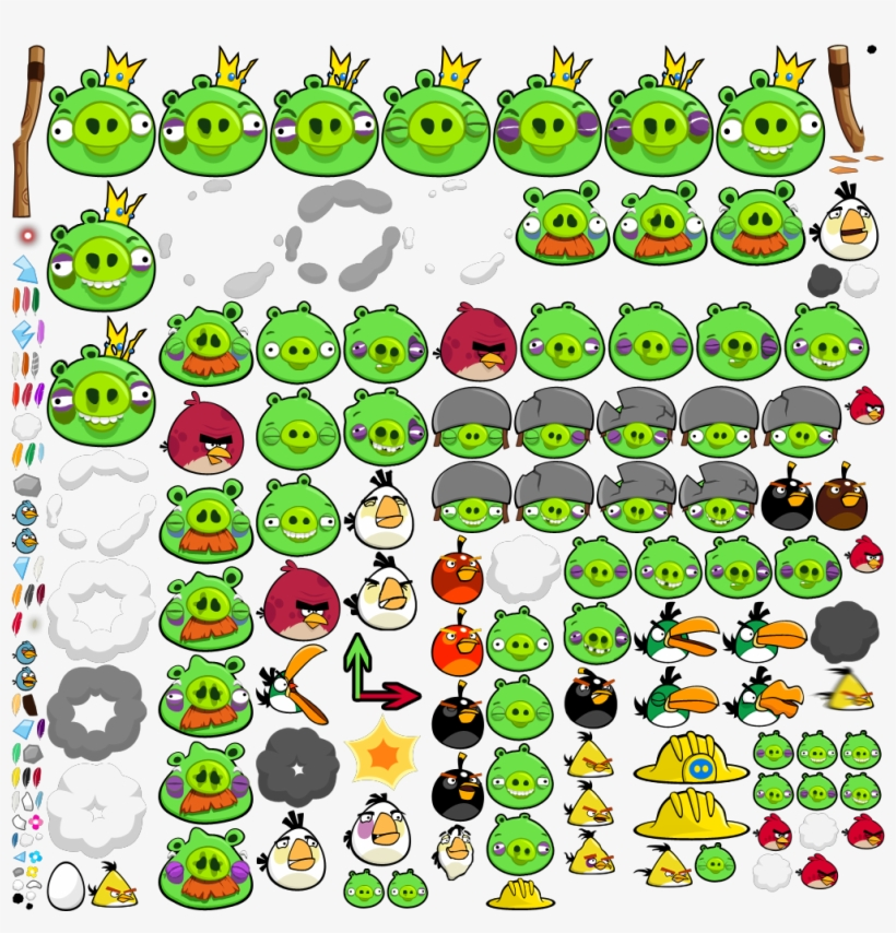 Angry Birds 1 - Angry Birds Ingame Birds, transparent png #2553621
