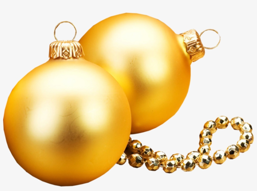 Share This Image - Gold Christmas Ornaments Vector, transparent png #2553737