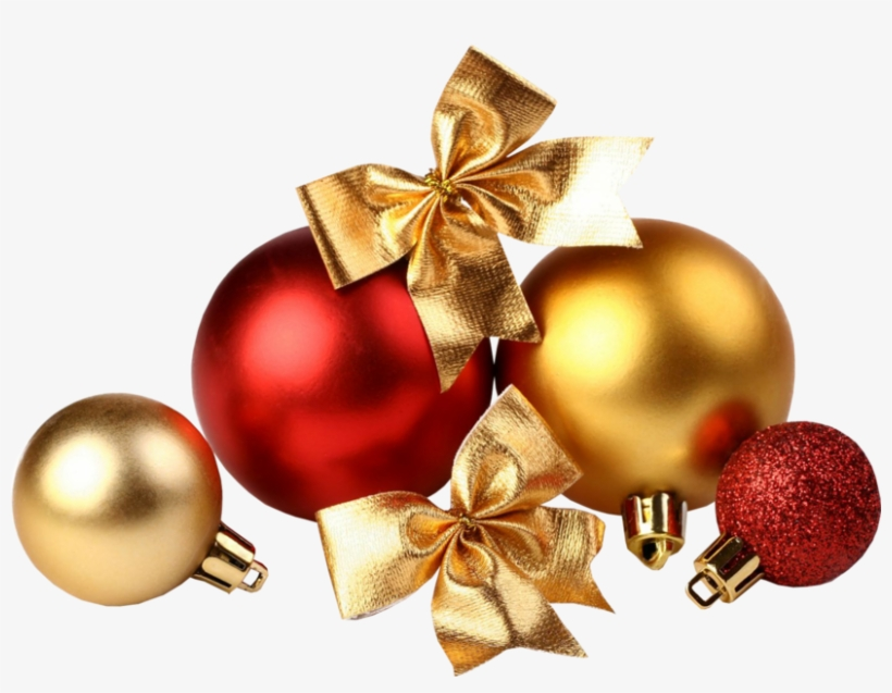 Share This Image - Christmas Ornament Red Gold, transparent png #2553815