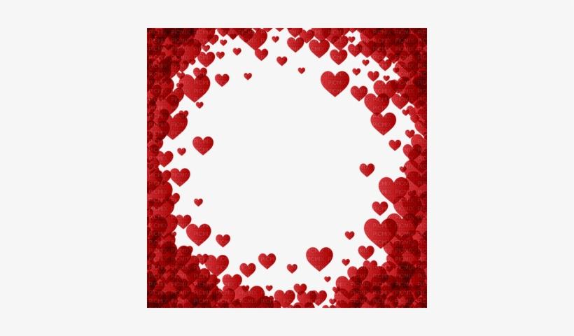 Hearts Frame Red Valentine - Transparent Background Heart Border, transparent png #2554554