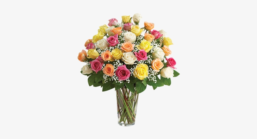 Color Me Pretty Roses In Houston, - Ultimate Elegance Long Stem Assorted Roses - Flowers, transparent png #2555283