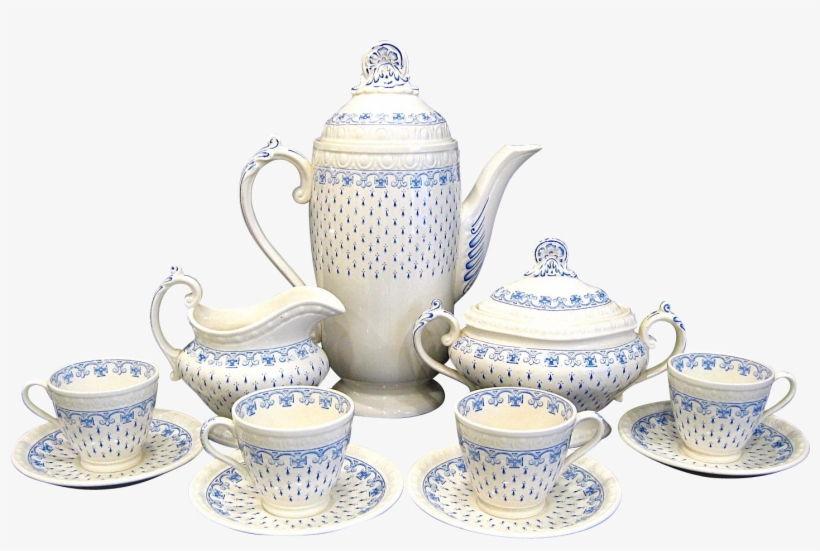 Copeland Spode Ermine Tea Coffee Set - Teapot, transparent png #2555550