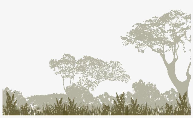 Bague Au Cabochon Vintage À La Silhouette D'arbre,, transparent png #2555982