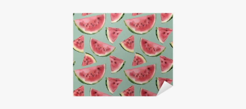 Watercolor Watermelon Semless Pattern - Watercolor Painting, transparent png #2557358