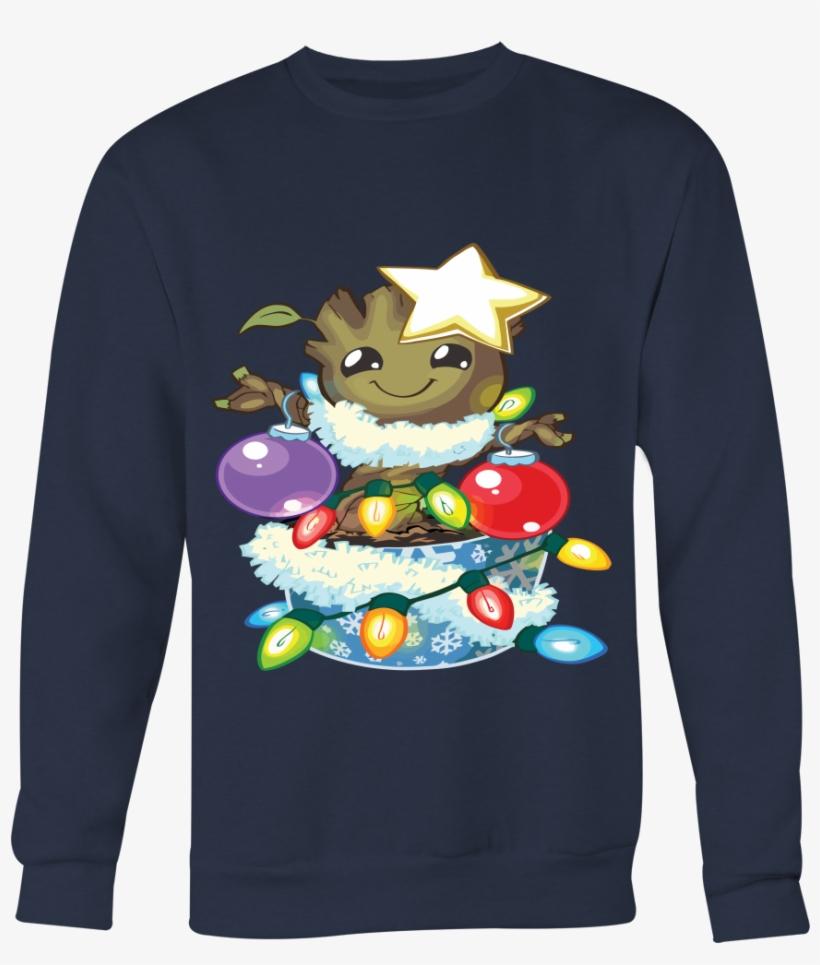 Groot Christmas With Lights Christmas And Ball Christmas - O Christmas Groot T-shirt, transparent png #2559474