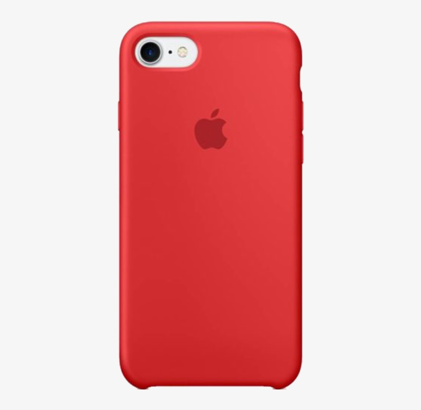 Apple Back Cover For Iphone Red Welcome To Apple Store - Apple Silicone Case Iphone 7 Red, transparent png #2559707