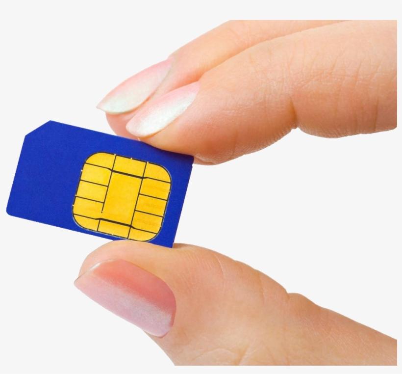 Sim Cards On Hand Png Image - Ethio Telecom Sim Card, transparent png #2560173