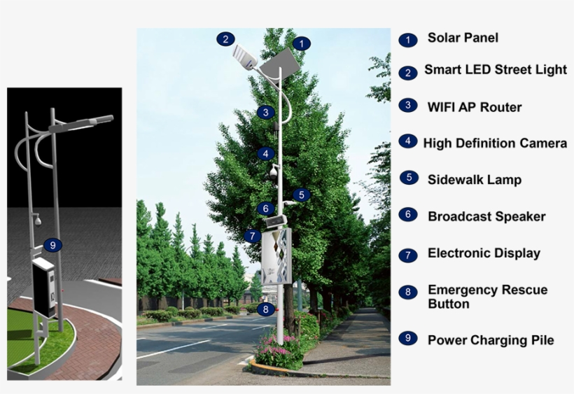 Smart Solar Led Street Light Application - Christmas Tree, transparent png #2562744