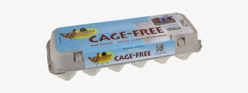 Farmers Hen House Cage-free Grade A Large White Eggs - Egg, transparent png #2562791