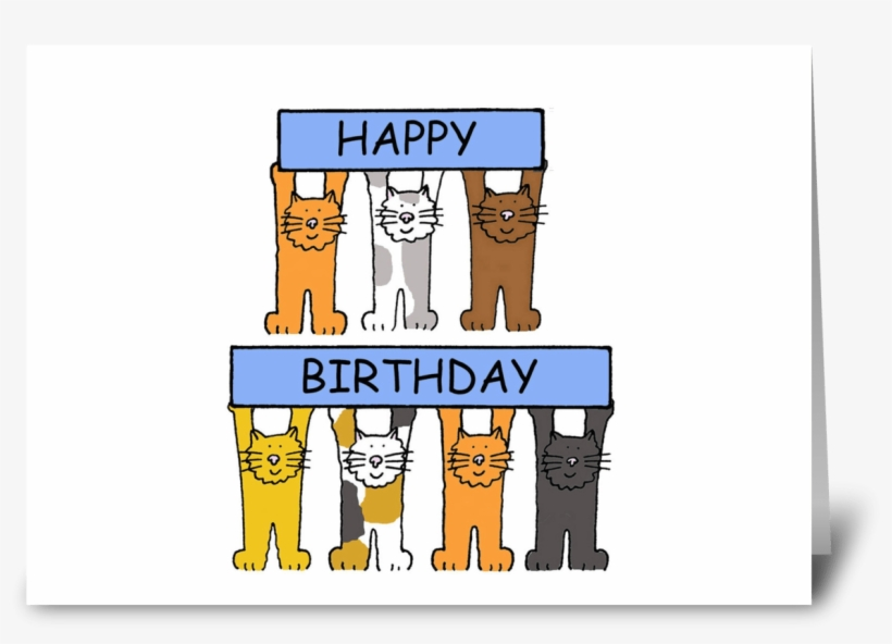 Happy Birthday Cartoon Cats - Happy Birthday For My Twin Sister, transparent png #2566369