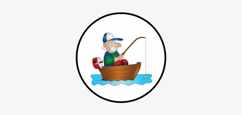 Real Fish - Fisherman In Boat Cartoon, transparent png #2567406