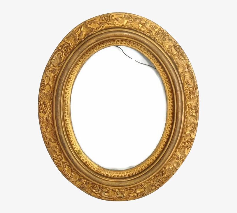 Victorian Oval Picture Frame Antique Gilded - Gilded Oval Frame, transparent png #2569509