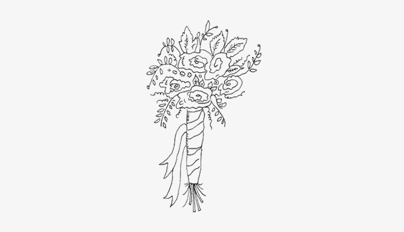 Bridal Bouquet Drawing At Getdrawings - Wedding Flowers Drawing Png, transparent png #2572578