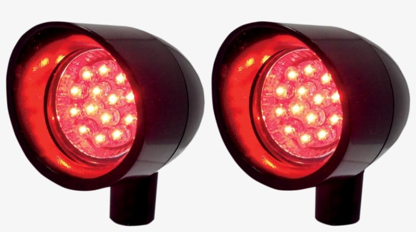 Turn Signals & Marker Lights - Vizor Lights V5201r Small Red Led Signal Lights, transparent png #2573893