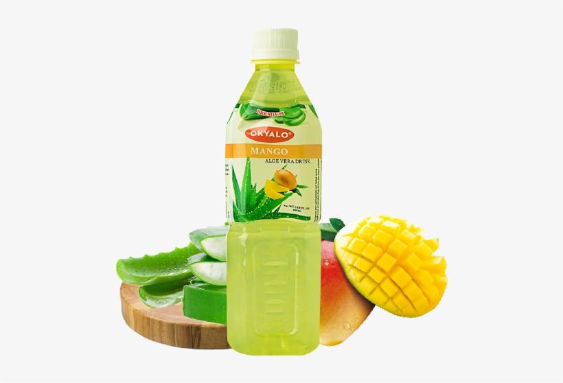 500ml Mango Aloe Vera Premium Drink - Aloe Vera Pulp Mango Juice, transparent png #2574819