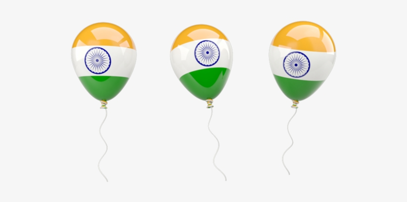 Illustration Of Flag Of India - Indian Flag Balloon Png, transparent png #2577530