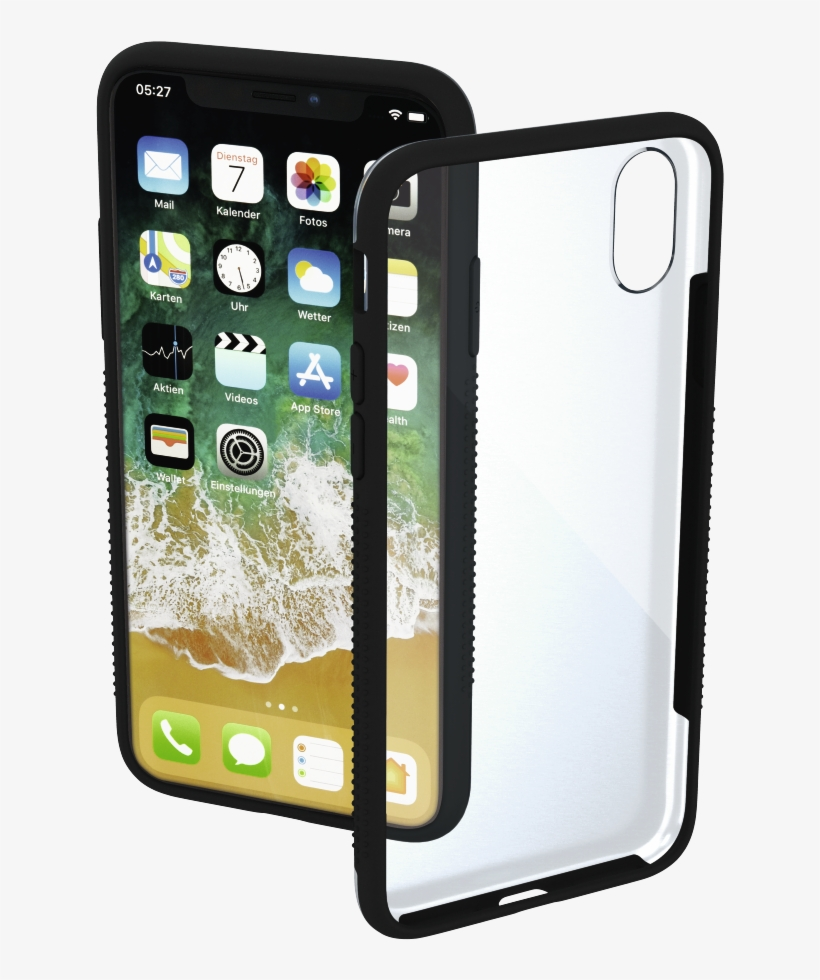 """""""frame"""" Cover For Apple Iphone X, Transparent/black - Hama 00182706 Smartphone-cover Frame Für Apple Iphone, transparent png #2578819"""