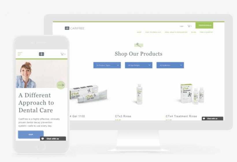 Carifree Ecommerce Web Design - Site E Commerce Design, transparent png #2578880