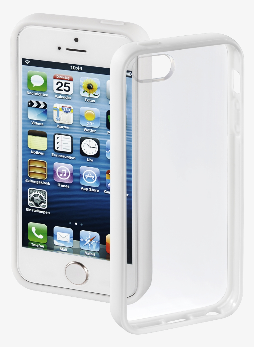 """""""frame"""" Cover For Apple Iphone 5/5s/se, White - Hama Frame Mobile Phone Cover For Apple Iphone 5 White, transparent png #2578908"""