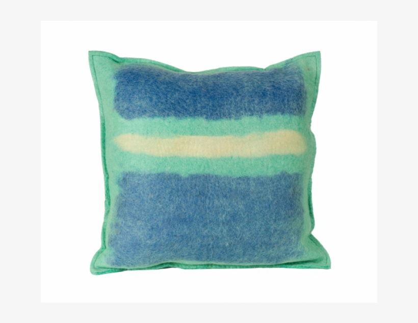 Abstract Sky Color Splash Felted Wool Throw Pillow, transparent png #2580636