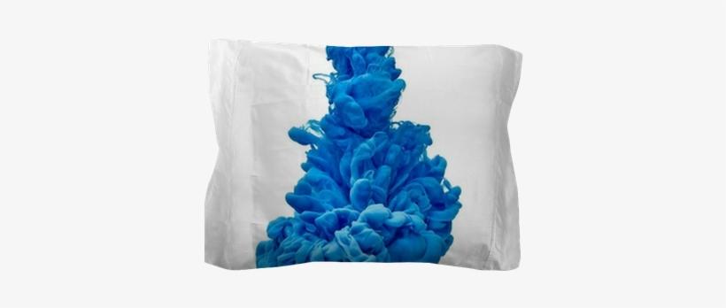 Blue Color Paint Ink Pigment Splash Pillow Sham • Pixers® - Color, transparent png #2580640