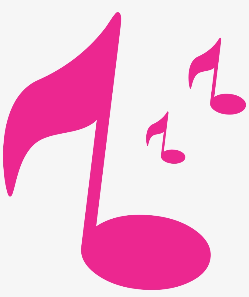 Pink Music Note Png - Pink Music Note Clipart, transparent png #2582146
