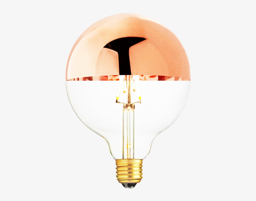 Sunlite 60w 120v Globe G40 Silver Bowl Incandescent - Incandescent Light Bulb, transparent png #2583259