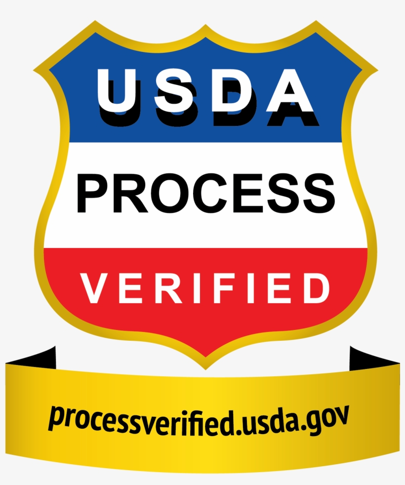 Grade Shields For Beef Products - Usda Process Verified Program Shield, transparent png #2584284