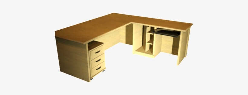 Office Pc Table Furniture Free 3d Model Max Id1388 - Office