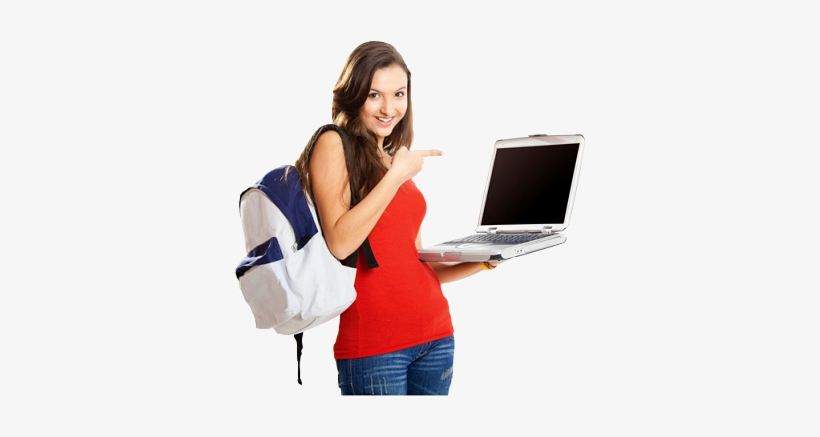 About Sheroes - Indian College Students With Laptop, transparent png #2585453