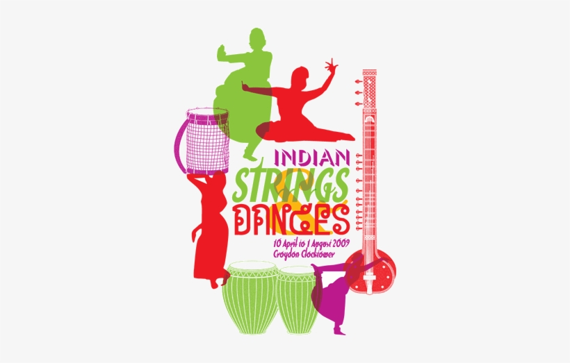 Logo Of The 'indian Strings & Dances' Exhibition At - Indian