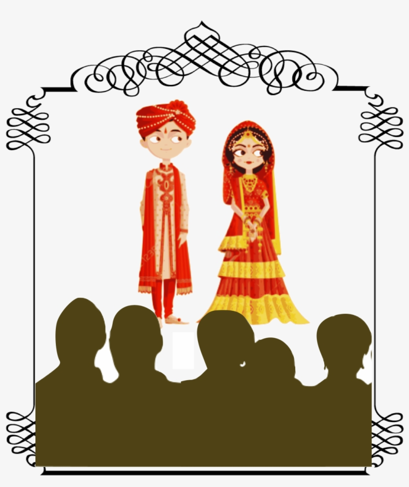 Arranged Marriages Cartoon Indian Wedding Couple Free Transparent Png Download Pngkey