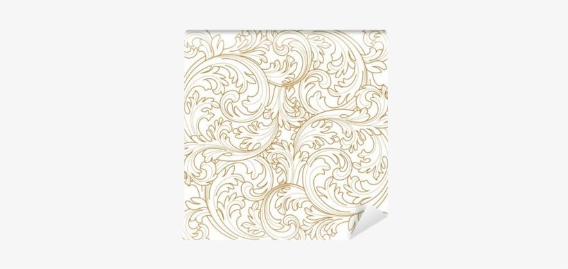 Golden Vintage Frame Scroll Ornament Engraving Border - Engraving, transparent png #2597304