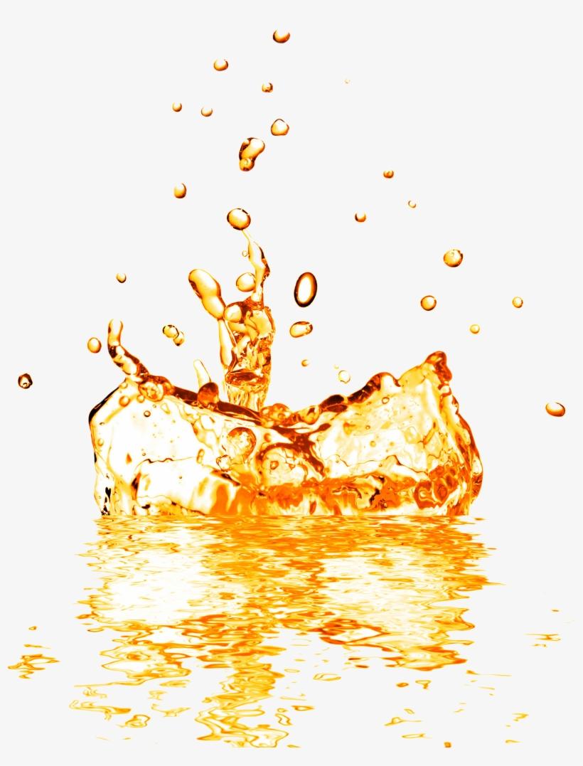 Fruit Splash Png - Juice Splash Orange Water Png, transparent png #2597367