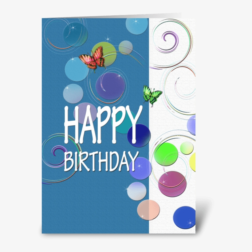 Colorful Happy Birthday Wishes Greeting Card - Greeting Card, transparent png #2598160