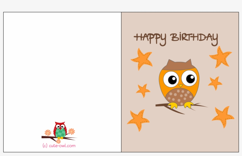 Happy Birthday Printable Free Owl Birthday Cards, transparent png #2598541