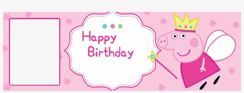 bc1dc41b4ac Peppa Pig Cartoon Personalised Birthday Banner With - Peppa Pig Birthday