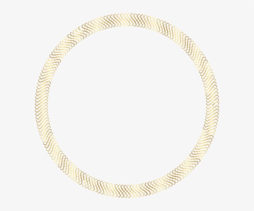 Gold Round Border Png Clip Art Image Png Pinterest - Portable Network Graphics, transparent png #2599230