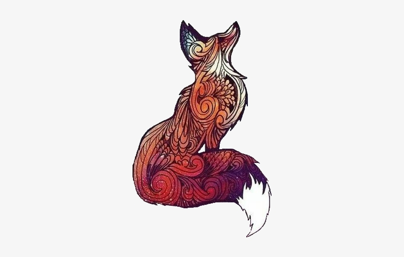 Tumblr Transparent Foxes Tatuaje De Zorro Tribal Free