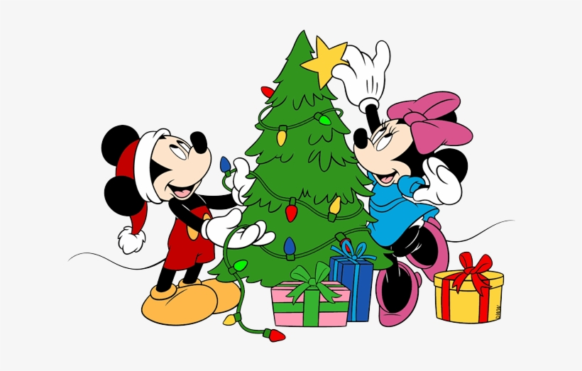 Mickey Christmas Tree Clipart - Mickey Mouse And Minnie Christmas, transparent png #261819