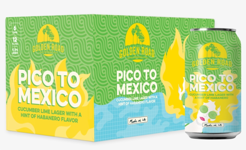 Pico To Mexico Box Can - Golden Road Brewing Pico To Mexico Beer 6-12 Fl. Oz., transparent png #261892